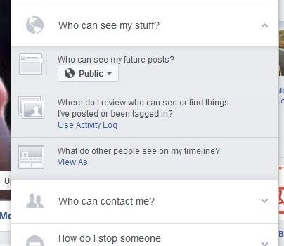 Facebook Profile Privacy Settings