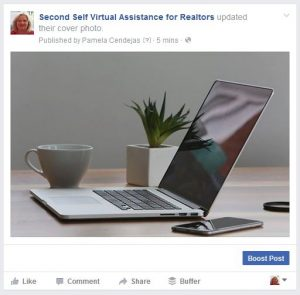 Facebook Cover for Second Self Virtual Assistance
