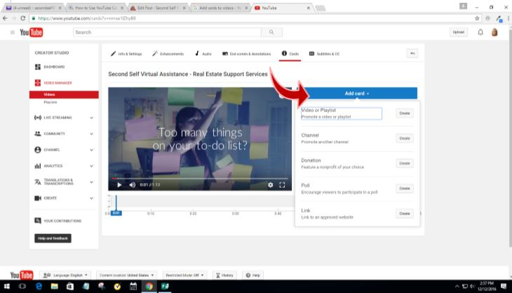 How to Add YouTube Link Cards to Your Videos
