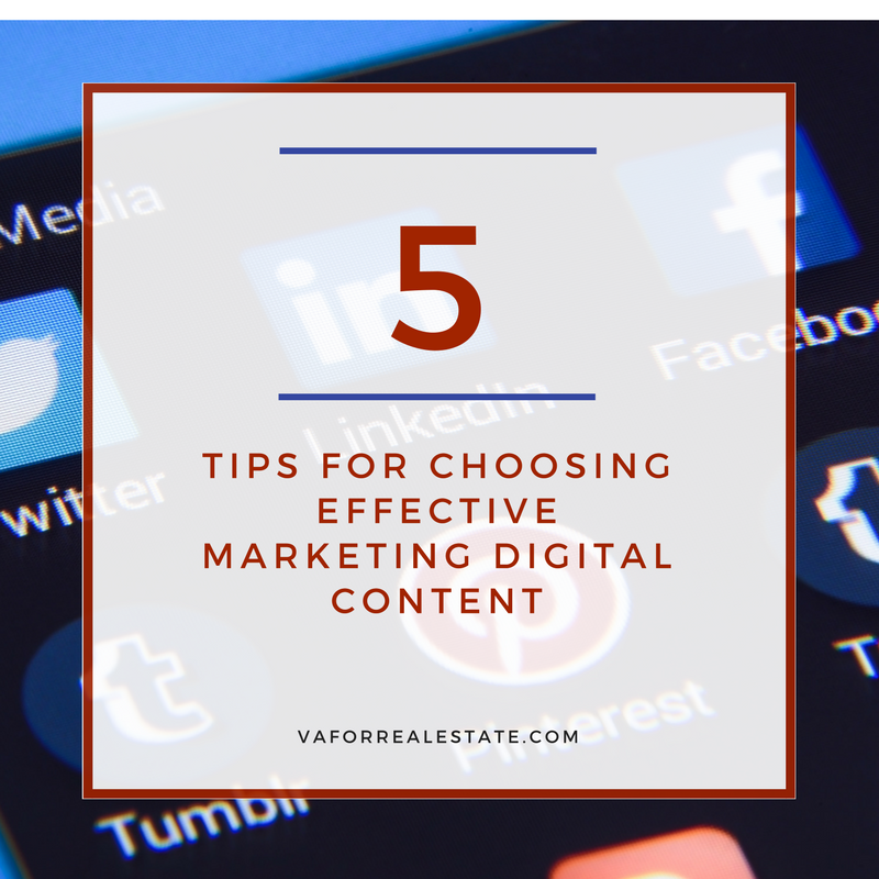 5 Tips for Choosing Effective Marketing Digital Content