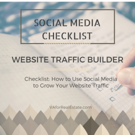 Website Traffic Builder: Social Media Checklist