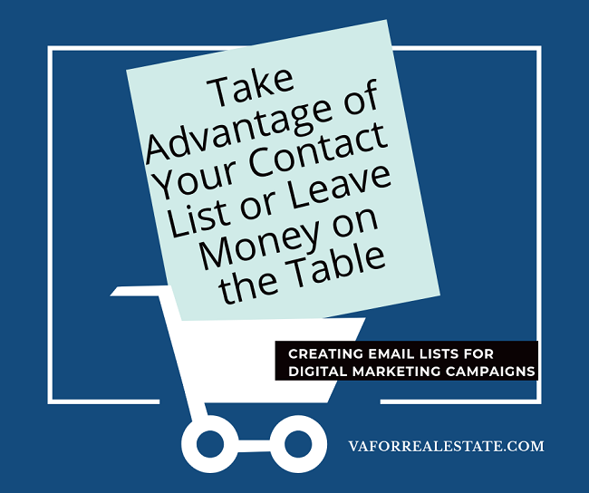 Take Advantage of Your Contact List or Leave Money on the Table