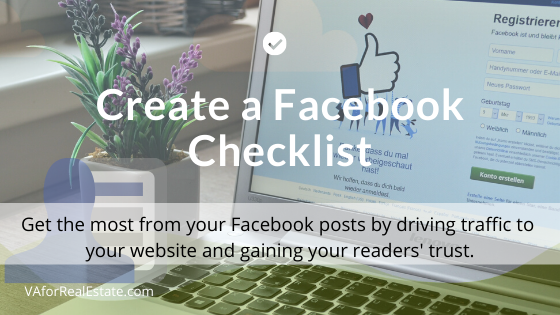 Create a Facebook Checklist and Send More Traffic to Your Website