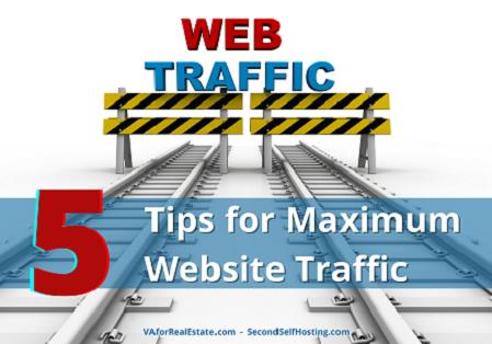 5 Tips for Maximum Website Traffic
